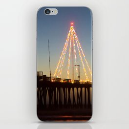 Christmas by the Sea iPhone Skin