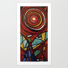 Fragmented Angels #076 Art Print