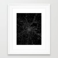 moscow Framed Art Prints featuring Moscow by Line Line Lines