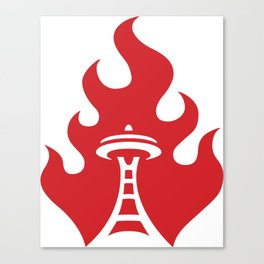 Seattle Riot | Flame Canvas Print