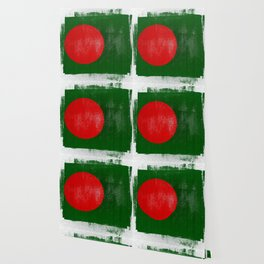 Bangladesh Distressed Halftone Denim Flag Wallpaper