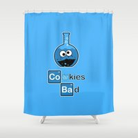 cooking Shower Curtains featuring Cooking Bad by Loku