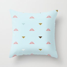 Rustic Pastel Triangles Throw Pillow