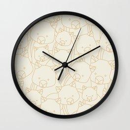 Minimalist Wombat Wall Clock
