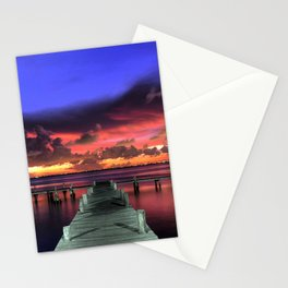 Romantic Long Pier  Stationery Cards