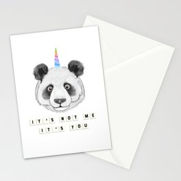 Cute Funny Panda Bear Unicorn Pandacorn Stationery Cards