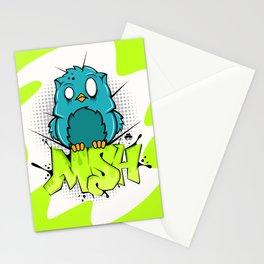 Zombie owl graffiti Stationery Cards
