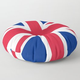 Union Jack, Authentic color and scale 1:2 Floor Pillow