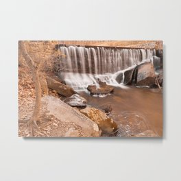 Rustic Rock Run Falls Metal Print