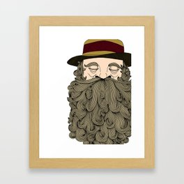 Musky Old Man Framed Art Print