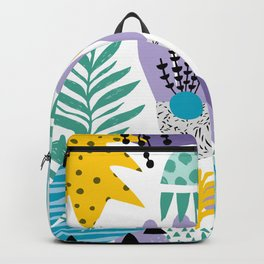 Abstract Plants Pattern Backpack
