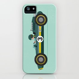 Green Retro Racing Car iPhone Case