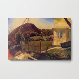 White Picket Fence - Mountain House by George Wesley Bellows Metal Print