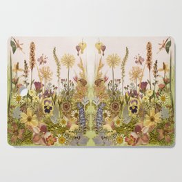 Pink Garden mirrored Cutting Board