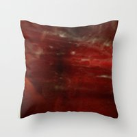 outer space Throw Pillows featuring Outer Space by Liv Bird