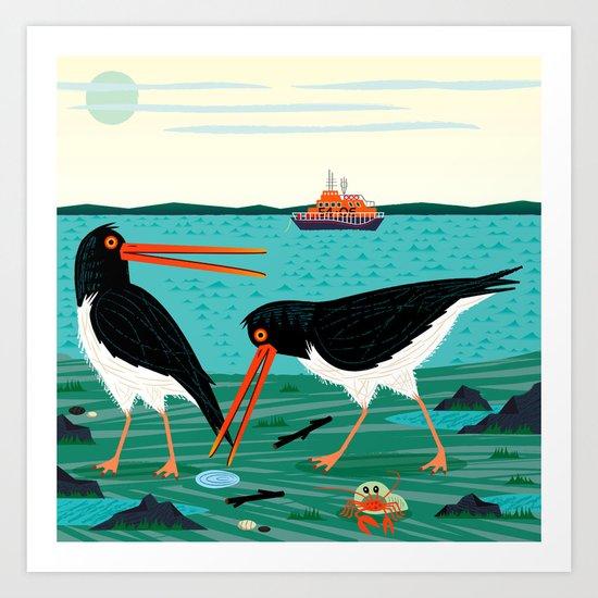 The Oystercatchers Art Print
