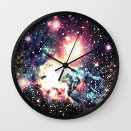 Fox Fur Nebula : Deep Pastels Galaxy Wall Clock