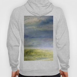Sea Shore Watercolor Ocean Landscape Nature Art Hoody