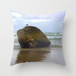 Seagull Rock Throw Pillow