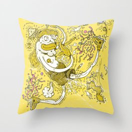 Smelly Jelly Throw Pillow