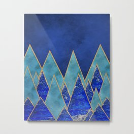Gemstone mountains Metal Print