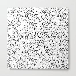 Dotted Spirals Metal Print
