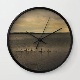Segulls on the lake Wall Clock