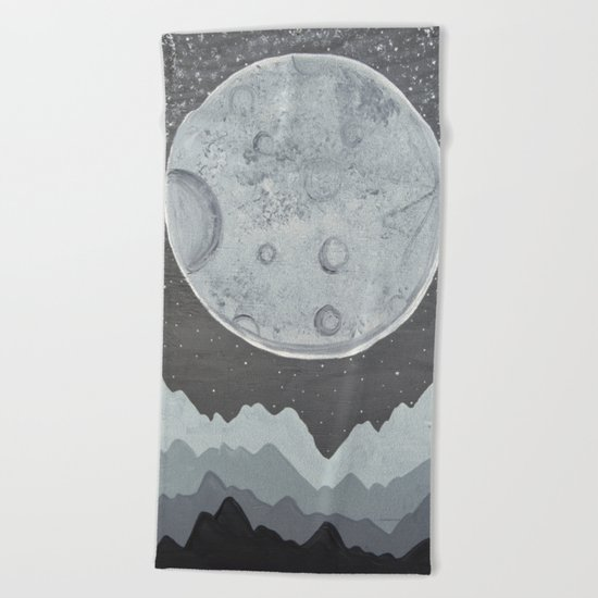 Super Moon Beach Towel