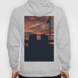 Sunset Over the City Street Photography Hoody