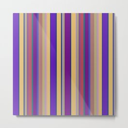 awning stripe Metal Print