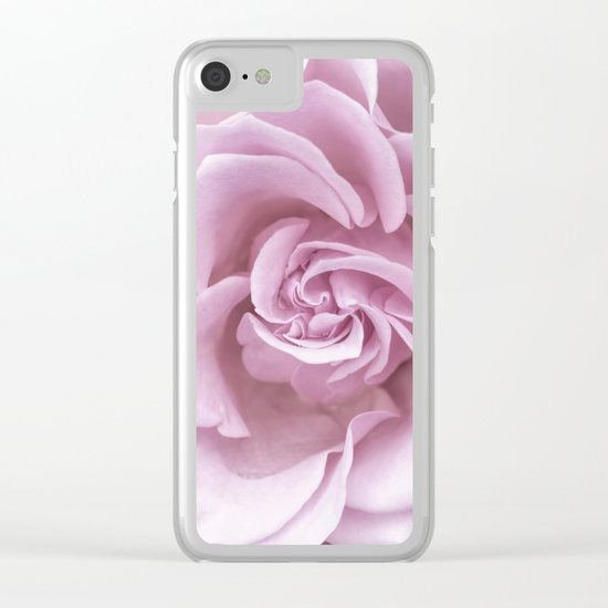 Pink Heart of a rose Clear iPhone Case