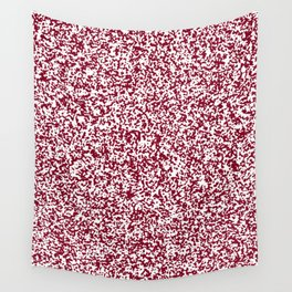 Tiny Spots - White and Burgundy Red Wall Tapestry