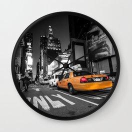 Manhattan nite taxi  Wall Clock