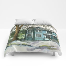 The House Under the Big Tree Comforters