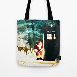Keep Watching The Tardis Light Tote Bag