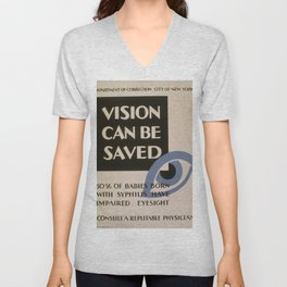 Vintage poster - Vision Can Be Saved Unisex V-Neck