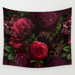 Vintage & Shabby Chic - Vintage & Shabby Chic - Mystical Night Roses Wall Tapestry