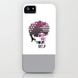 Define Yourself iPhone Case