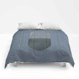 "Aldous Huxley ""Brave New World"" - Minimalist illustration literary design, bookish gift Comforters"