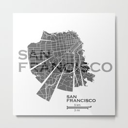 San Francisco Map Metal Print