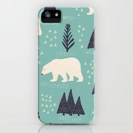 Polar Bears and Christmas Trees iPhone Case