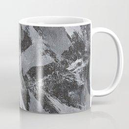 White Ink on Black Background #2 Coffee Mug