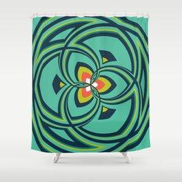 Spiral Rose Pattern A 4/4 Shower Curtain