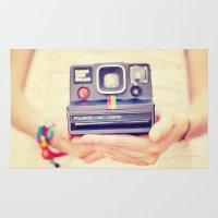 polaroid Area & Throw Rugs featuring Polaroid by Irene Miravete
