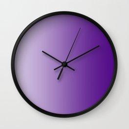 Pastel Violet to Violet Vertical Linear Gradient Wall Clock
