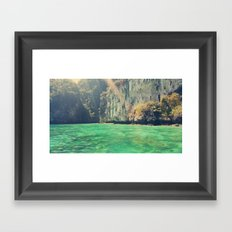 a little touch of paradise Framed Art Print