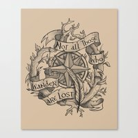 """not all those who wander are lost Canvas Prints featuring """"Not all those who wander are lost"""" by Rose24601"""