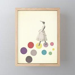 Bird Lady Framed Mini Art Print
