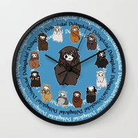kili Wall Clocks featuring Dwarpacas(Kili) by Lady Cibia