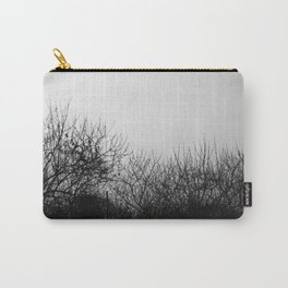 Black And White Leafless Tree  Carry-All Pouch